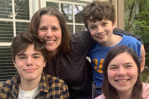 Theresa Schroeder, Point Breeze parent of three school-age children